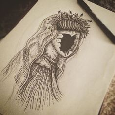 Faceless girl #linework #lines #sketch #tattooflash #tattoodesign #tattoo…