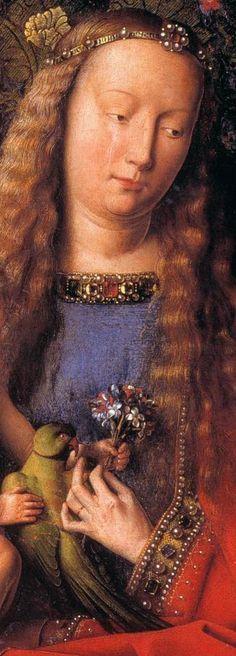 Jan van EYCK The Madonna with Canon van der Paele (detail) 1436