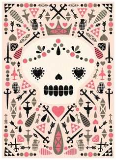 Sugar Skull by hillarybird on Etsy $15