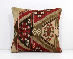 Vintage Turkish Nomadic Handwoven Pillow by AnatoliaCollection