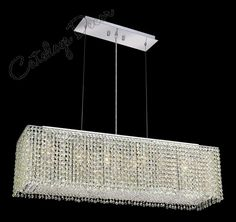 Modern crystal chandelier lighting for dining room led crystal modern crystal chandelier rectangular brilliant rectangular fashioned crystal chandelier lights el291d32 lp mozeypictures Gallery