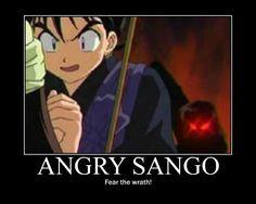 Motivational- Angry Sango by MarinaRebina.deviantart.com on @deviantART