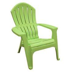 $18   RealComfort Lime Plastic Adirondack Chair