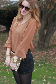 Blogger Oh So Glam sparkles in this chic holiday look!