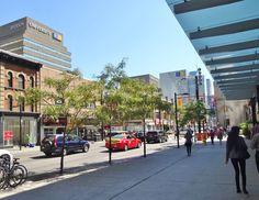 Corner of Yonge & Gerrard Streets Downtown Toronto, Street View, Corner