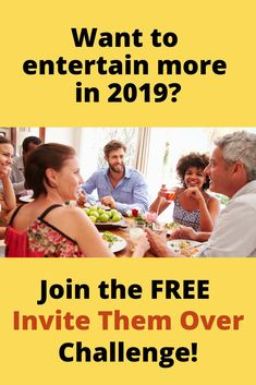 Want to host more get-togethers in 2019? Join my FREE Invite Them Over Challenge, and I will make you into a confident hostess in 5 days! Click the pin for more info and to sign up! #dinnerpartyideas #entertaining #hostess #gettogether Dinner Themes, Dinner Party Menu, Dinner Party Recipes, Party Themes, Party Ideas, Invite, Invitations, Confident, Hospitality
