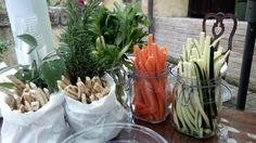 bastoncini di pinzi con bastoncini di piada aromattizzata