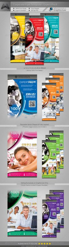 Multipurpose Corporate Flyer - Expert Pro II  #GraphicRiver         [ Multipurpose Corporate Flyer – Expert Pro II ]   4.12×11 in + 0.25in bleed ( 2 copies on 1 US Letter paper)  300DPI, CMYK Print Ready   Easy to customize and Change color.