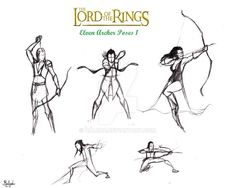Lotr Elf Archer Action poses 1 by halrod on DeviantArt