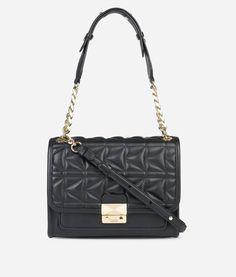 KARL K/Kuilted Handbag. #karl #bags #shoulder bags #hand bags #pvc #leather #