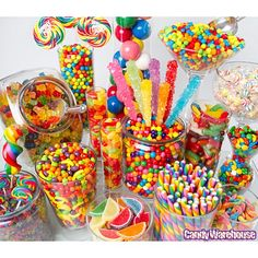 Rainbow Candy Buffet... THIS ONE IS AWESOME!