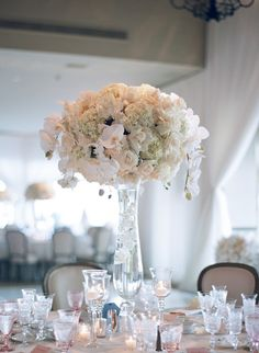 Featured Photographer: Elizabeth Messina Photography; wedding centerpiece idea