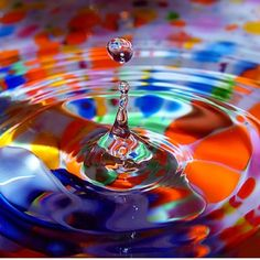 A drop of color