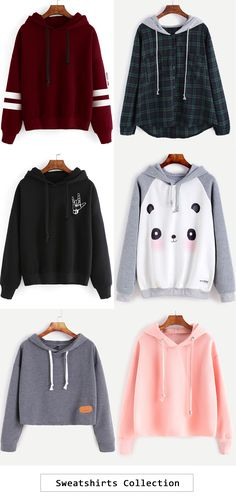 Sweatshirt collection cute tees outfit, k divat, haspólók Komplette Outfits, Outfits For Teens, Winter Outfits, Casual Outfits, Fashion Outfits, Fashion Clothes, Casual Dresses, Hipster Girl Outfits, Hipster Clothing
