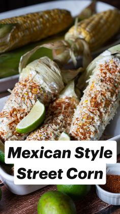 Yummy Vegetable Recipes, Grilled Asparagus Recipes, Baked Salmon Recipes, Corn Recipes, Grilled Vegetables, Side Dish Recipes, Mexican Food Recipes, Vegetarian Recipes, Healthy Recipes