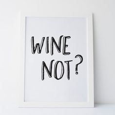 Printable Art Wine Not Wall Print Gallery Wall von elemenopeedesign