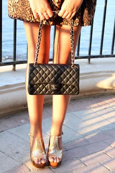 The Chanel bag and shoes .