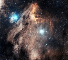 "The Pelican Nebula lies about 2,000 light-years away in the high flying constellation Cygnus, the Swan. Also known as IC 5070, this cosmic pelican is appropriately found just off the ""east coast"" of the North America Nebula (NGC 7000), another surprisingly familiar looking emission nebula in Cygnus."