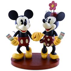 Pie-Eyed Minnie Mouse and Mickey Mouse Figure -- 15 H | Disney Parks Product | Figurines & Keepsakes | Disney Store