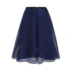 """SD❗️Blue Hollow Flare Skirt Worn once to church. Eyelet material w/ black piping waist. Fully lined. 13"""" waist. 26"""" length. I can only ship FEBRUARY 7-12. Message me if interested so i can hold it for you till end of January. no brand Skirts A-Line or Full"""
