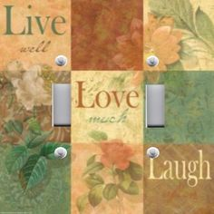 Light Switch Plate Switchplate Cover LIVE LOVE LAUGH FLORAL CHIC ~ FREE SHIP