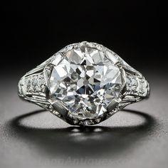 4.37 Carat GIA D/VS1 Art Deco Diamond Ring by J.E. Caldwell - 10-1-6638 - Lang Antiques