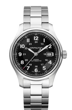Hamilton Mens Khaki Field King Auto Brown Leather Strap - First Class  Watches™ 6bb97aa26e8c