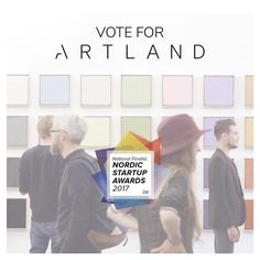 Kaboom!  Artland just got nominated for a Nordic Startup Award in the category 'Best Newcomer'. We are pretty stoked and proud and not least happy because this truly shows the great importance of art!  Vote for the art - vote for ARTLAND at Nordic Startup Awards . (see link in bio) #NSAwards #NordicMade #artlandapp #artcollector