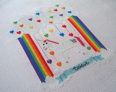 Unicorn Believer Rainbow Cross Stitch