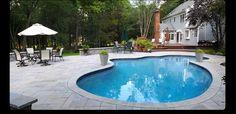 aquaBRIGHT™ Finished Backyard Pool