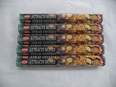 HEM Attracts Money 100 Incense Sticks 5 x 20 stick packs * Want additional info? Click on the image.