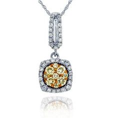 Arthurs Collection Yellow Gold DIAMOND Necklaces PDR-13598 #ArthursJewelers