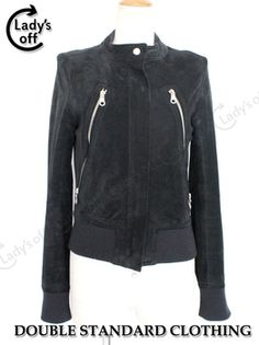 Rakuten: suede pig leather blouson black ダブスタソブソヴ real leather jacket jumper USED A rank $201.65 - Shopping Japanese products from Japan