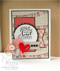 Card by Marisa Ritzen using More than Love from Verve.  #vervestamps