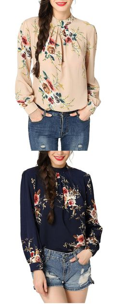 Check out this tops/blouse at our store. This Floral Print Tops good for casual or even office use. Floral Maxi, Floral Blouse, Floral Tops, Floral Prints, Floral Fashion, Floral Style, Plus Size Women, Vintage Dresses, Boho Chic