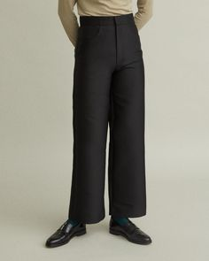Flat front High-waisted Front pockets Single double-welt back pocket Cotton Wool Polyester Model is 178 ft 10 in and is wearing a size S Slacks, Trousers, Pants, Jil Sander, Apothecary, Acne Studios, Marni, Designing Women, Fashion Brands
