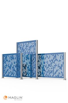 Maglin FLEXX panels come in three different sizes to choose from. 4 FT W x 4 FT H • 4 FT W x 6 FT H • 6 FT W x 4 FT H #Maglin #MaglinSiteFurniture #LandscapeArchitecture #metalscreens #metalpanels #terrace Outdoor Privacy Panels, Steel Panels, Outdoor Rooms, Furniture Projects, Tool Design, In The Heights, Terrace, Collections, Pattern