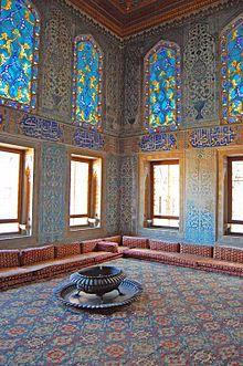 Turkish carpet and interior of the Harem Room Topkapi Palace, Istanbul Islamic Architecture, Beautiful Architecture, Art And Architecture, Empire Ottoman, Turkey Travel, Living Room Art, Istanbul Turkey, Islamic Art, Islamic Decor