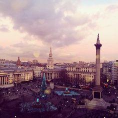 This December, stroll through festive Trafalgar Square at dusk
