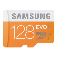 Original Samsung 128GB EVO Class 10 Micro SDXC Memory Card-128GB ORANGE 48MBs Waterproof X-ray Proof Temperature Proof Magnetic Proof