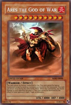 ares the god of war yu-gi-oh | Ares the God of War - Realistic Cards - Single Cards - Yugioh Card ...