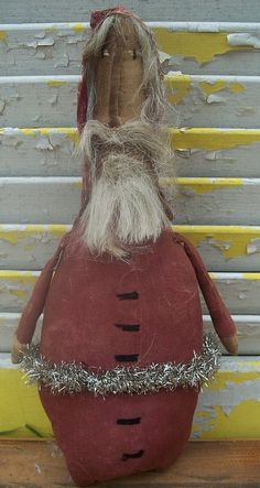 relisted Primitive Christmas Fat Bottom Santa by Rabbithollowprims on Etsy, $24.95