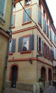 Trompe-l'œil rue Fourchue à Montauban