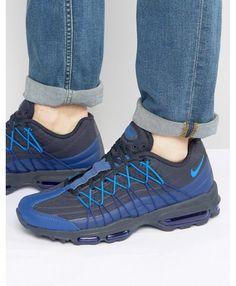 on sale e5d57 d6618 Nike Air Max 95 Ultra SE Blue Black Trainers Cheap Air Max 95, Air Max