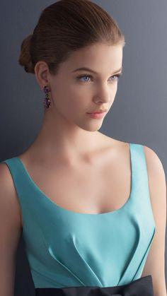 Barbara Palvin Blue Dress