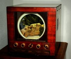 LOOOOVE this! Antique Television Aquarium by DoerflerDesigns on Etsy, $1200.00