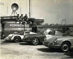 Click through to see the entire Porsche Race Transporters and Team Trucks