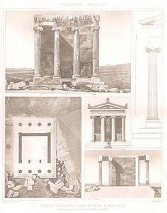 5 ~ ATHENS ACROPOLIS ATHENA NIKE TEMPLE ~ 1905 D'ESPOUY Architecture Art Print