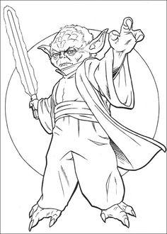 Star Wars Målarbilder för barn. Teckningar online till skriv ut. Nº 95