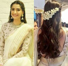 Top 15 Hairstyles for Sarees Pictures for All Types of Face - wedding and engagement - Hairstyles for saree, indian hairstyles, hairstyle on saree, traditional hairstyles, Hairstyle on s - Saree Hairstyles, Open Hairstyles, Girl Hairstyles, Sonam Kapoor Hairstyles, Round Face Hairstyles, Party Hairstyles For Girls, Gorgeous Hairstyles, Hairstyles Pictures, Elegant Hairstyles